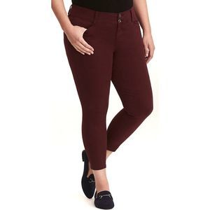 Torrid Twill Skinny cropped mid rise Pants A0255